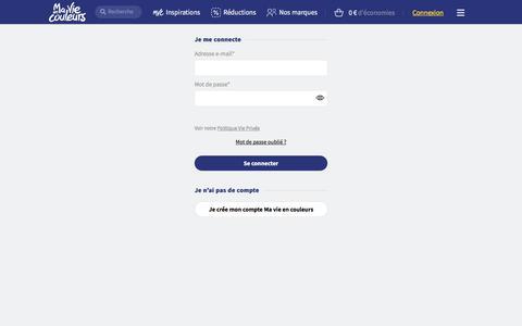 Screenshot of Login Page mavieencouleurs.fr - Se connecter | Ma vie en couleurs - captured Sept. 22, 2018