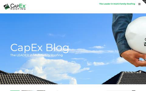 Screenshot of Blog capexroofing.com - Blog - Capex - captured Sept. 26, 2018