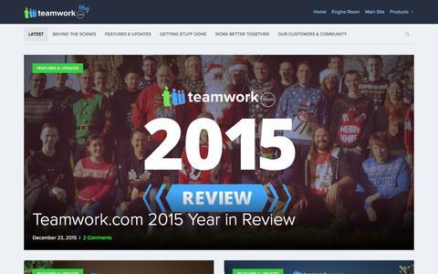 Screenshot of Blog teamwork.com - Teamwork.com Blog  Thoughts from the team behind Teamwork.com - captured Dec. 24, 2015