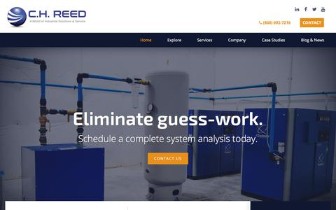 Screenshot of Home Page chreed.com - Compressed Air, Fluid Handling, & Paint Finishing | C.H. Reed - captured Sept. 25, 2018