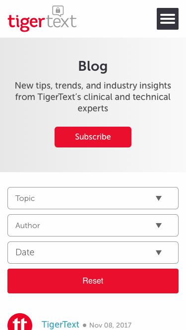 Blog | Clinical Communication & Collaboration Information | TigerText