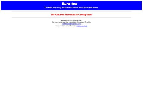 Screenshot of About Page eurotecsls.com - About Us - captured Oct. 2, 2014