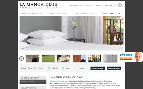 Screenshot of About Page lamanga.co.uk - La Manga Club Resort Holidays | La Manga Club Resort | La Manga Club - captured Jan. 9, 2017