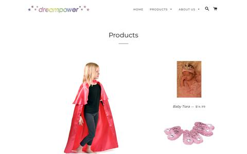 Screenshot of Products Page dreampowercostumes.com - Products – Dreampower Costumes - captured June 30, 2018