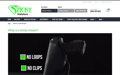 Screenshot of About Page stickyholsters.com - What is a Sticky Holster? - captured Nov. 18, 2018