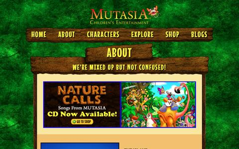 Screenshot of About Page mutasia.com - About | Mutasia - captured March 2, 2016