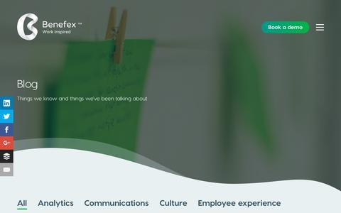 Screenshot of Blog hellobenefex.com - Blog - Benefex - captured July 12, 2018