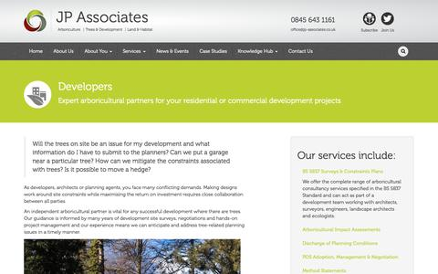 Screenshot of Developers Page jp-associates.co.uk - Developers » JP Associates - captured Oct. 3, 2014