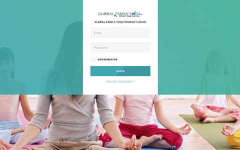 Screenshot of Login Page globalfamilyyoga.com - Global Family Yoga - captured May 19, 2017