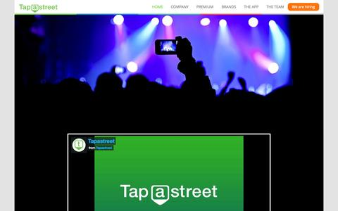 Screenshot of Home Page Signup Page Login Page tapastreet.com - Tapastreet - Follow locations and hashtags - captured Aug. 11, 2015