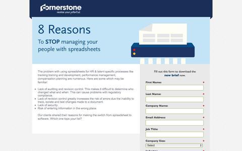 Screenshot of Landing Page cornerstoneondemand.com captured April 9, 2018