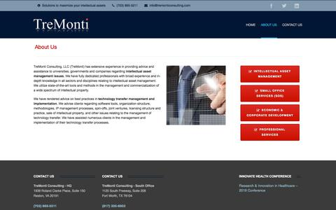 Screenshot of About Page tremonticonsulting.com - About TreMonti Consulting - captured July 12, 2019