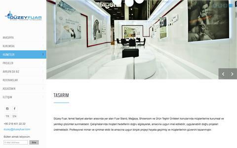 Screenshot of Services Page duzeyfuar.com - Düzey Fuar Stand Tasarım ve Uygulama - captured May 24, 2016