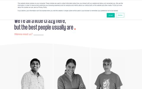 Screenshot of Team Page divami.com - Divami - Our team, the Best UI/UX Designers | Developers | QA Engineers - captured July 11, 2019