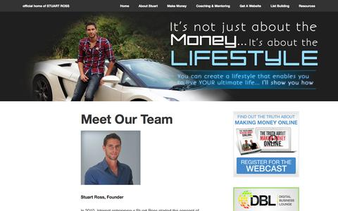 Screenshot of Team Page stuart-ross.com - Meet Our Team   Stuart-Ross.com - captured Nov. 2, 2014