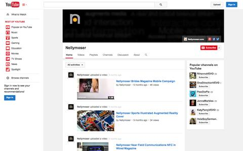 Screenshot of YouTube Page youtube.com - Nellymoser  - YouTube - captured Nov. 5, 2014
