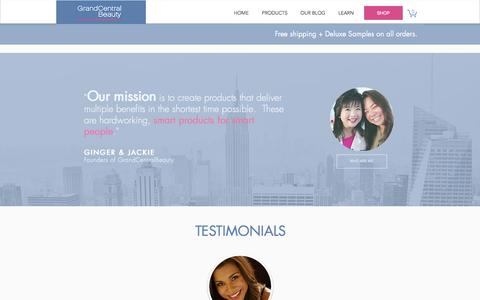 Screenshot of Testimonials Page grandcentralbeauty.com - S.M.A.R.T. Testimonials | Grand Central Beauty - captured July 23, 2018
