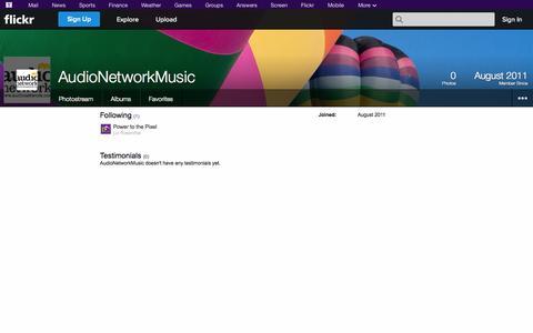 Screenshot of Flickr Page flickr.com - Flickr: AudioNetworkMusic - captured Oct. 22, 2014