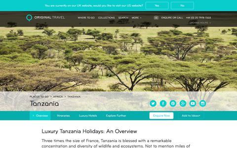 Luxury Holidays Tanzania | Beach & Safari Holidays