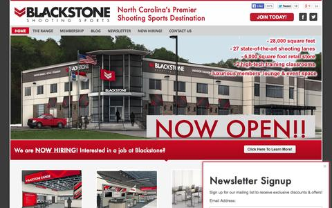 Screenshot of Home Page blackstoneshooting.com - Blackstone Shooting Sports | Charlotte, NC indoor range & store - captured Jan. 21, 2015