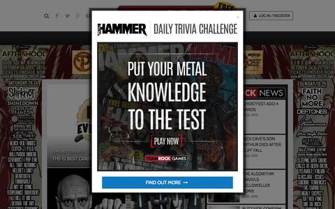 Screenshot of Home Page teamrock.com - TeamRock - captured July 16, 2015