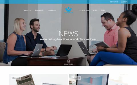Screenshot of Press Page viverae.com - News | Workplace Wellness Newsletter Viverae - captured Aug. 18, 2018