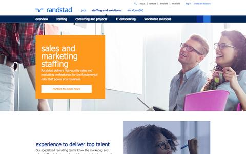 Sales & Marketing Staffing & Recruiting Solutions | Randstad USA