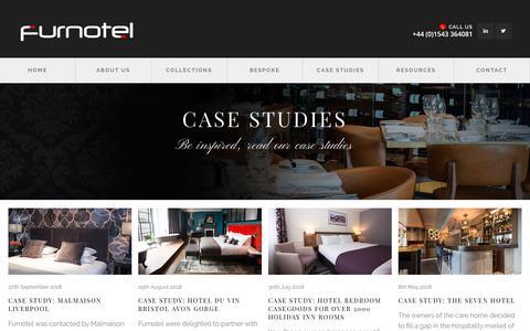 Screenshot of Case Studies Page furnotel.co.uk - Case Studies | Hotel Bedroom Furniture | Bespoke | Furnotel - captured Nov. 14, 2018