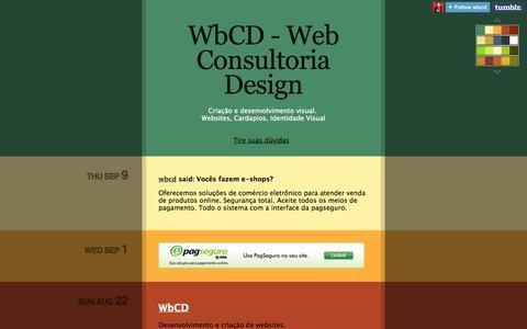 Screenshot of Home Page wbcd.net - WbCD - Web Consultoria Design - captured Oct. 21, 2014
