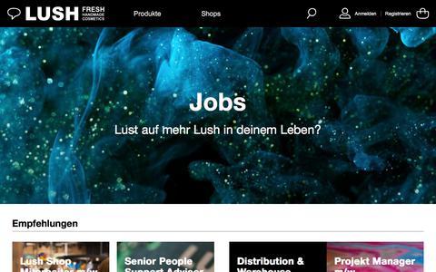 Screenshot of Jobs Page lush.com - Jobs | LUSH Deutschland - captured March 10, 2018