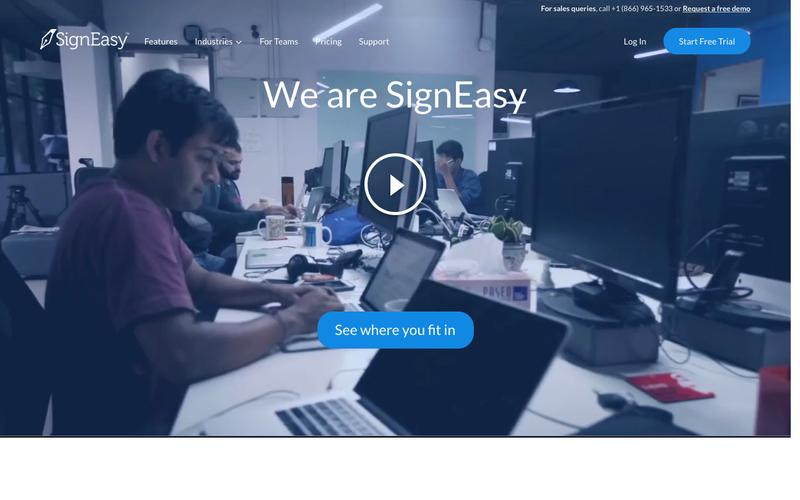 Screenshot Electronic signatures on mobile and desktop | SignEasy