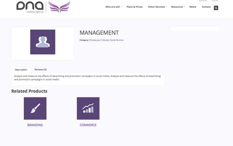 Screenshot of Team Page dnacreates.com - DNA Creative Agency         | MANAGEMENT - captured Oct. 5, 2014