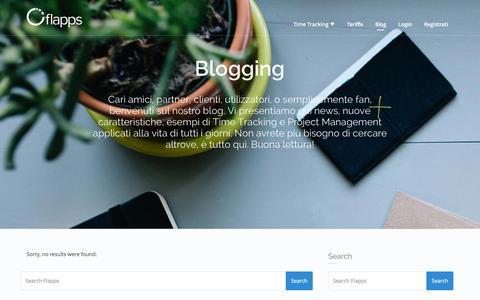 Screenshot of Blog flapps.it - Blog - Flapps - captured Jan. 24, 2016