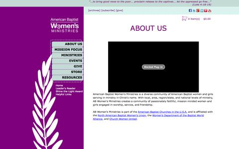 Screenshot of About Page abwministries.org - ABOUT US - ABWMinistries - captured Nov. 2, 2014