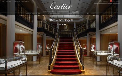 Screenshot of Services Page cartier.com - Services - Cartier - captured Nov. 4, 2016