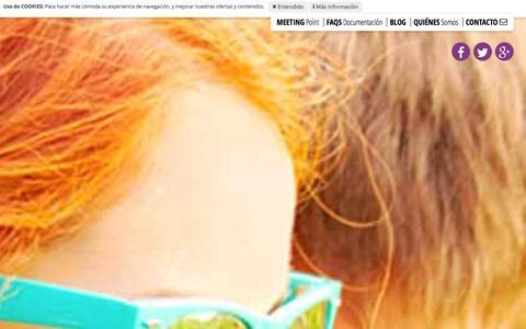 Screenshot of Home Page blahblah.es - Cursos de InglŽs en el Extranjero: Desde 899Ű - captured Jan. 17, 2016