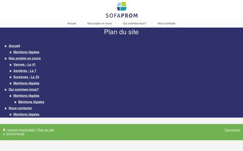Screenshot of Site Map Page sofaprom.fr - SOFAPROM - captured May 25, 2017