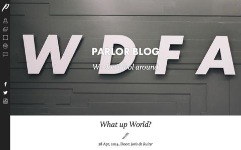 Screenshot of Blog parlor.nl - Parlor | Marketingbureau gevestigd in Breda - captured Oct. 1, 2014