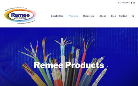 Screenshot of Products Page remee.com - Remee Products - captured Oct. 18, 2018