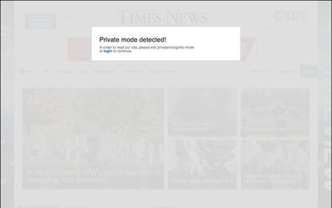 Screenshot of Home Page times-news.com - times-news.com - captured Nov. 11, 2018