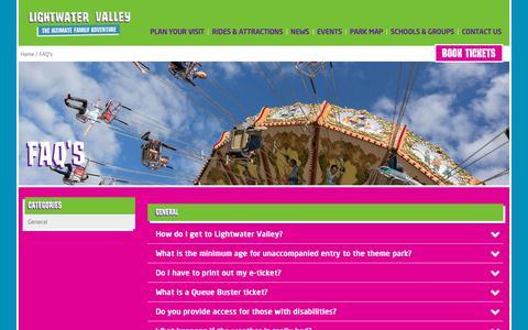 Screenshot of FAQ Page lightwatervalley.co.uk - FAQ's - captured Sept. 28, 2018