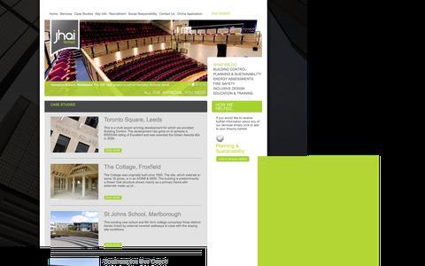 Screenshot of Case Studies Page jhai.co.uk - | JHAI Building Control - captured Feb. 12, 2016