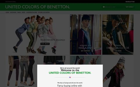 Screenshot of Home Page benetton.com - United Colors of Benetton - captured Sept. 18, 2014