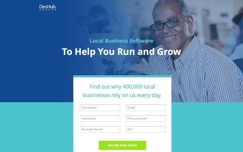 Screenshot of Landing Page dexmedia.com - DexHub | Run and Grow Your Insurance Business - captured Dec. 5, 2016