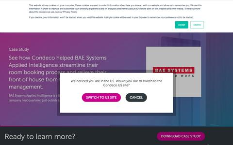 Screenshot of Case Studies Page condecosoftware.com - Case Study - BAE Systems - Condeco Software UK - captured Jan. 22, 2019