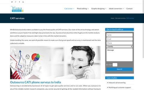 Market research companies|CATI services|Winbizsolutionsindia