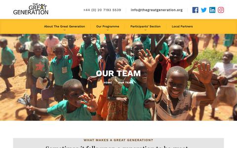 Screenshot of Team Page thegreatgeneration.org - Our Team – The Great Generation - captured Nov. 18, 2018