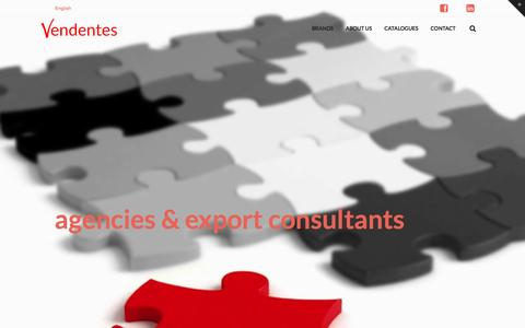 Screenshot of Home Page vendentes.com - Vendentes Limited   agencies & export consultants - captured Nov. 29, 2016