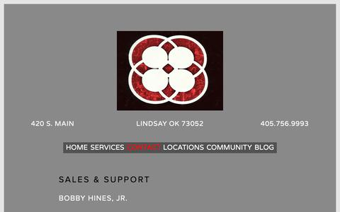 Screenshot of Contact Page hineslocationlighting.com - Contact — Hines Location Lighting - captured July 20, 2018