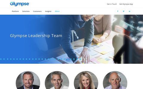 Screenshot of Team Page glympse.com - Executive Leadership | Glympse - captured April 23, 2018